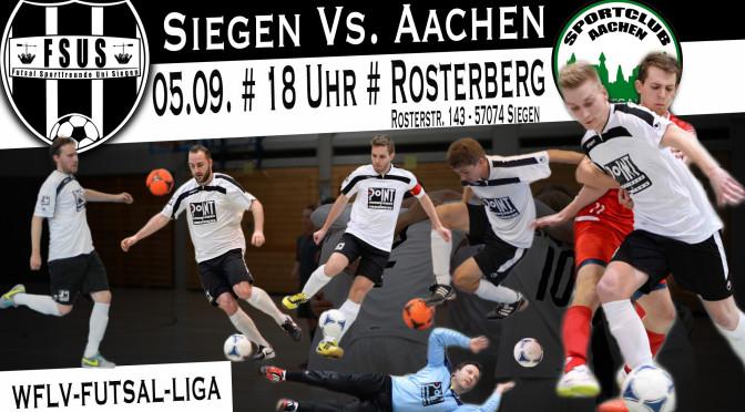 1. Spieltag der WFLV-Futsal-Liga 15/16